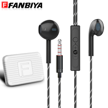 Buy FANBIYA Brand High Q2 Ear Earphone Earbuds iPhone HD Microphone Stereo Bass Music Earphones Noise Cancelling for $5.85 in AliExpress store
