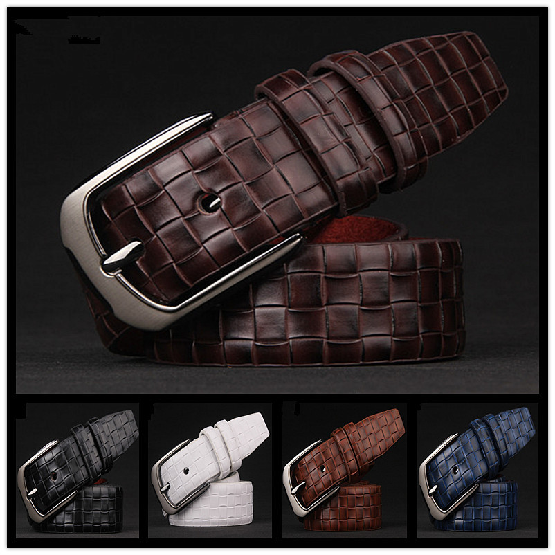 016New good quality leather belt business men's luxury designer brand gold belt Kounan free shipping buy any two 10 discount(China (Mainland))