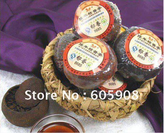 Free shipping 5pic Ferment New taste Orange puer tea