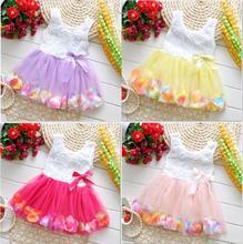 2015 Newborn Baby Party Dresses Flower Girls Princess Dresses Kids Beautiful Baby tutu Dress Summer Wear Free Shipping(China (Mainland))