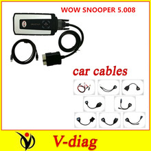 DHL 2016 wow snooper V5.008 R2 send keygen mail gift tcs cdp pro 8 pcs/set cables cable car without Bluetooth - The best price and service store