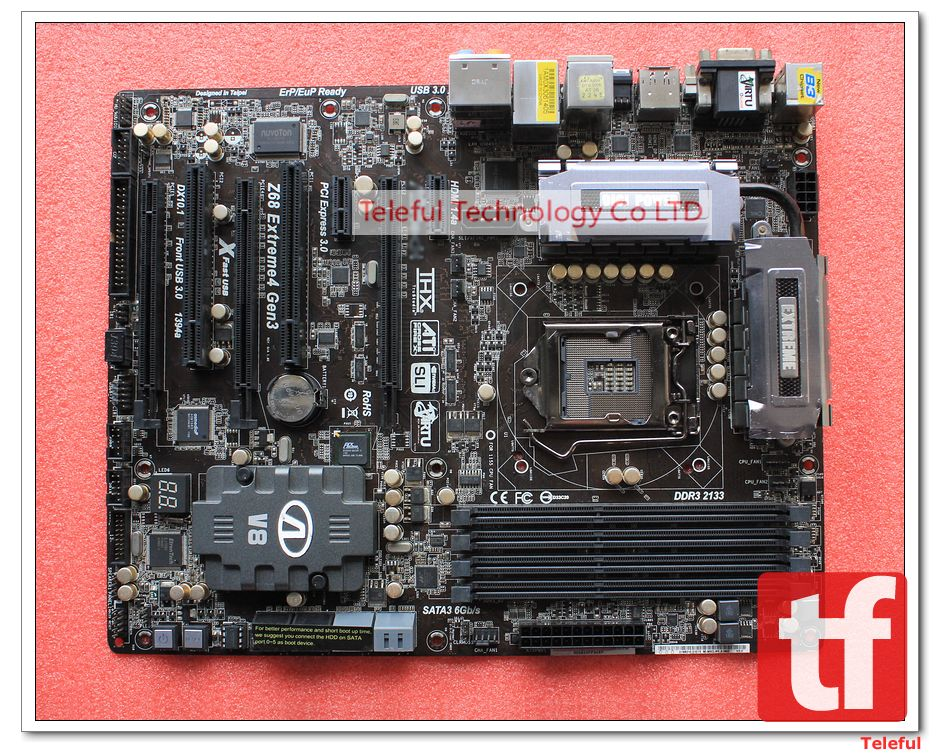 Socket 1155 Motherboard for Asrock Z68 Extreme4 Gen3 1155 PC(China (Mainland))