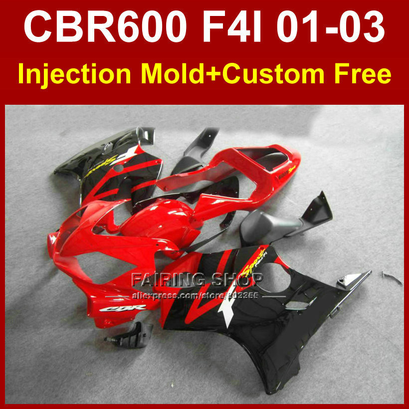 OEM factory fairing parts for HONDA CBR600 F4I 01 02 03 CBR 600F4i 01 02 03 custom red fairings kit cbr 600 f4i 2001 2002 2003(China (Mainland))