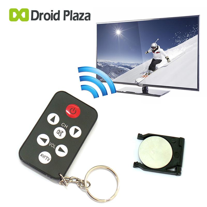 Wireless Smart Remote Controller Black Mini Universal Infrared IR TV Remote Control Controller 7 Keys Button Keychain Key Ring(China (Mainland))