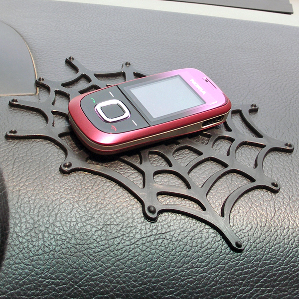 Car Dashboard perfume or Ipod Nano Touch Iphone Mobile Phone Pad In Car Holder Sticky Pad spider-man Gadget Mat(China (Mainland))