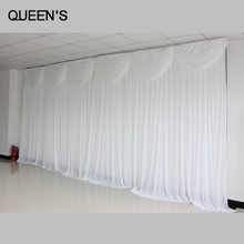 White Color Ready Made Wedding Backdrops