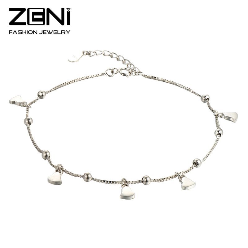 2016 New Anklet Fine Jewelry Bell Design Genuine Pure 925 Sterling Silver Anklets for Women Valentine's Day Gift Zeni Jewelry(China (Mainland))