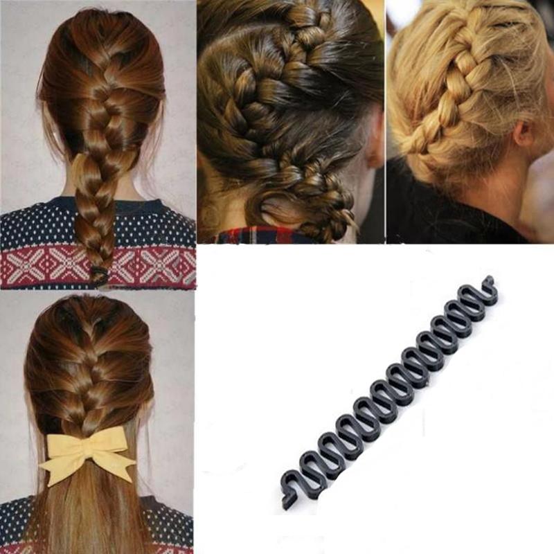 3PC Clip Hair Clips Hair Braiding Tool Women Girls Hair Accessories For Braids Centipede Braid Device Hairpin Ponytail Hot Sale(China (Mainland))