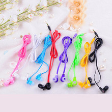 Flat Cable 3.5mm Earphone headset For Huawei Samsung iPhone 5 6 6s Stereo Bass MP3 MP4 B brand fone de ouvido GIFT Headphones