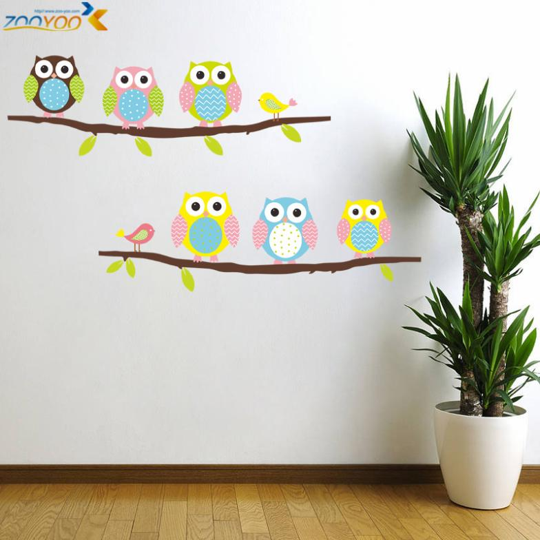 Creative wall stickers #16 Cute Owls