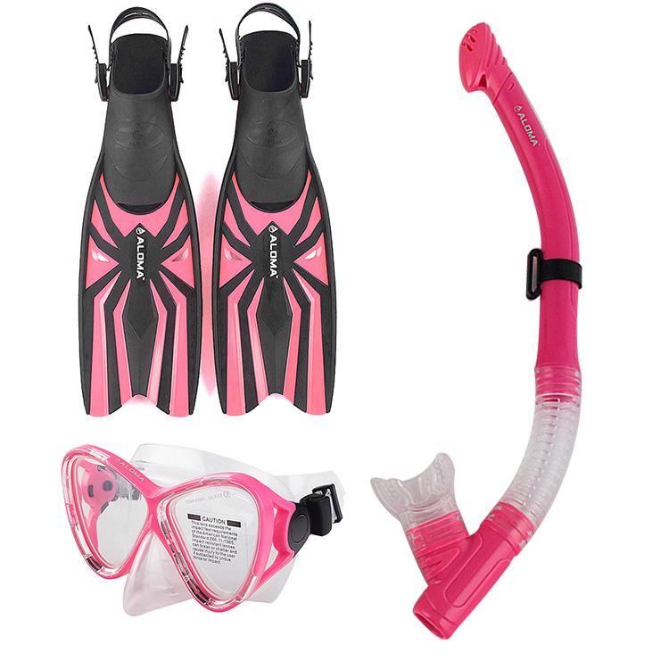 New Scuba Diving Facility Dive Mask Dry Snorkel Snorkeler Fins Set Scuba Snorkel Professional Freediving(China (Mainland))