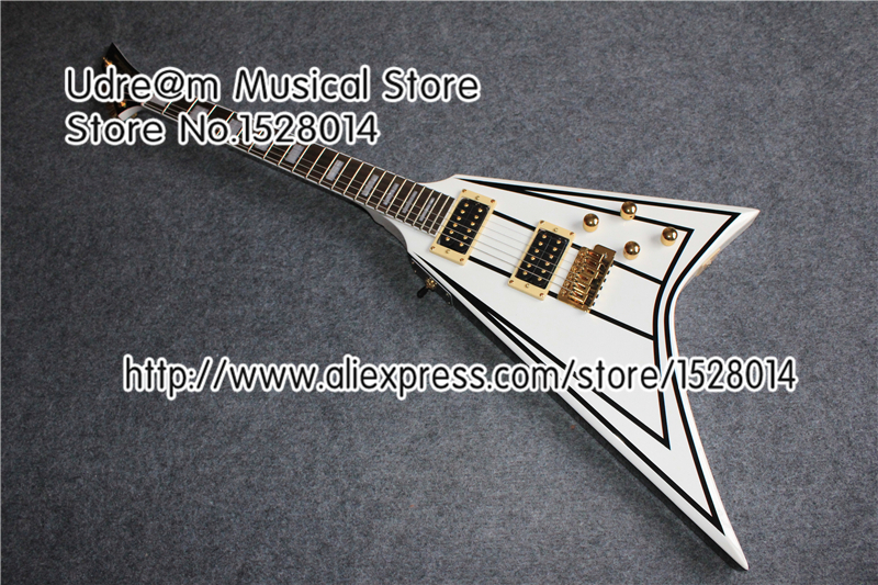Hot Selling Chinese Musical Instrument Jackson Flying V Guitar Randy Rhoads Signature In Stock(China (Mainland))