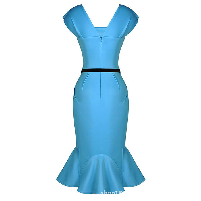 Work Wear Dress Sky Blue