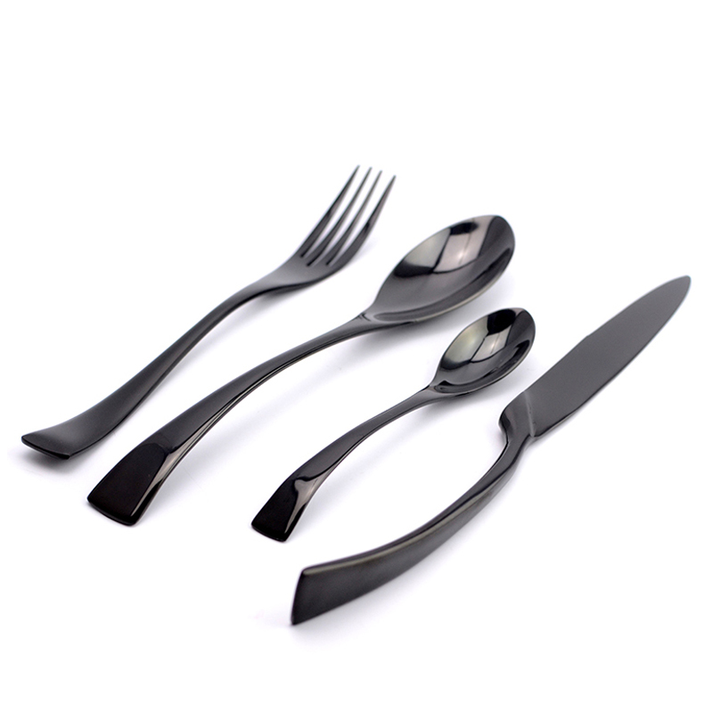 Wholesale Black Cutlery Set Stainless Steel Flatware