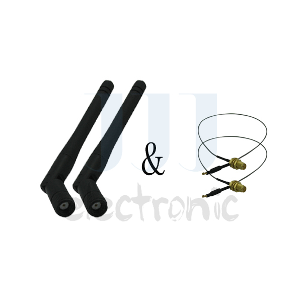 2 U.fl cables for Linksys Wireless Router WRT310N + 2 2dBi WiFi RP-SMA Dual Band Antennas(China (Mainland))