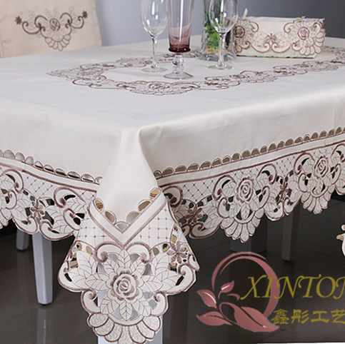 010 european pastoral cloth table runner embroidered