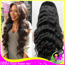 Glueless Peruvian Body Wave Full Lace Wigs For Black Women Unprocessed Virgin Peruvian Human Hair Lace Front Wigs With Baby Hair(China (Mainland))