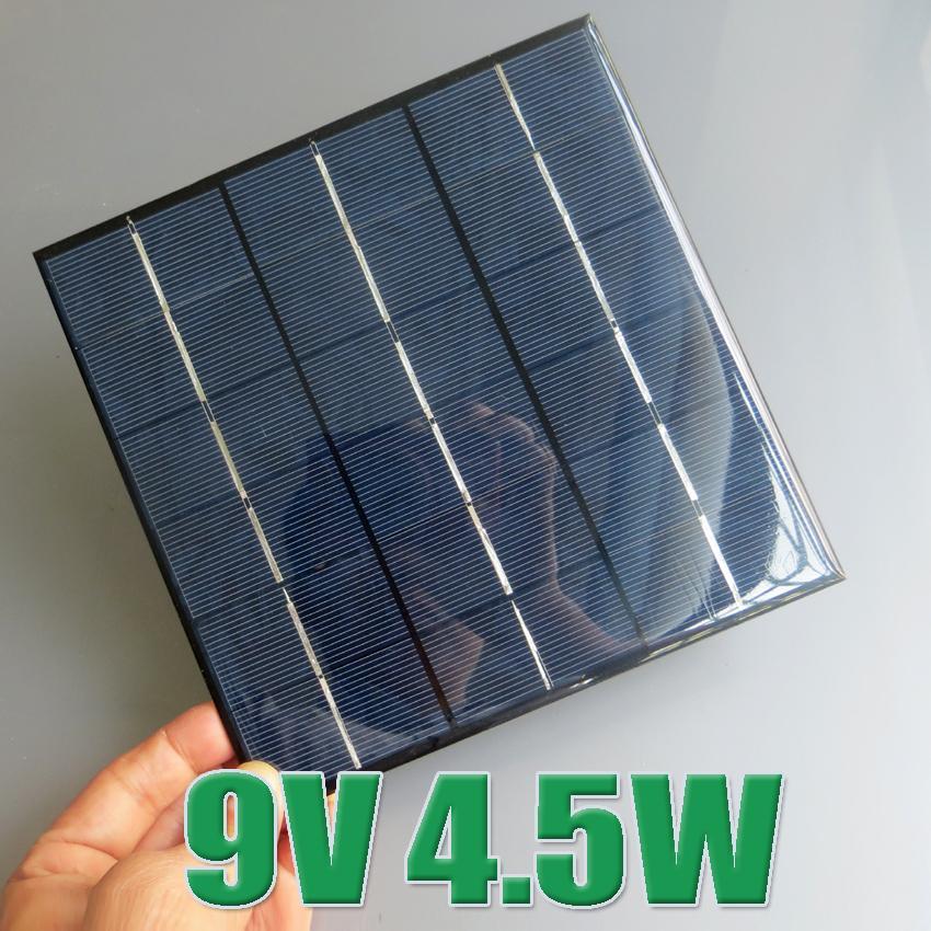 Hot Sale 9V 4.5W 500mA Mini polycrystalline solar Panel, 9VDC 5W solar cells module battery charger enducation kits(China (Mainland))