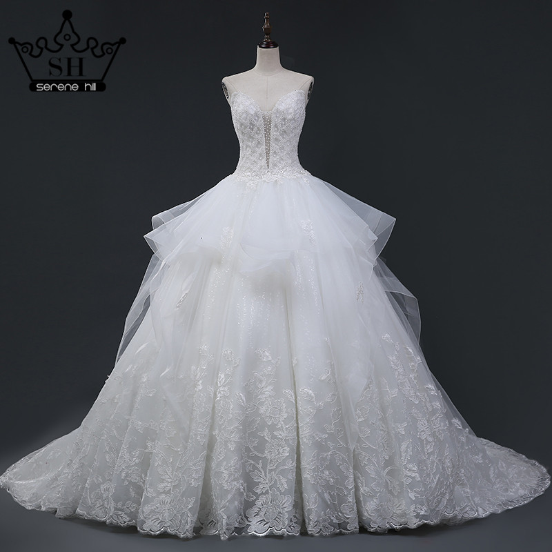 Compare prices on diamond ball gown online shopping buy for Crystal design wedding dresses price