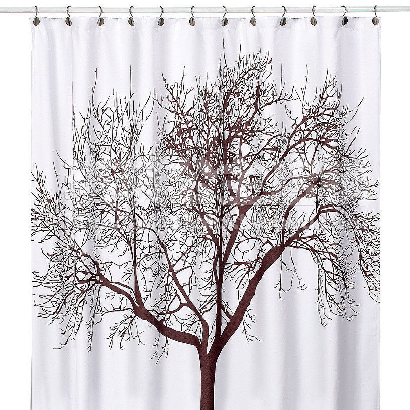 Cortinas De Baño Marilyn Monroe:Brown Tree Fabric Shower Curtain