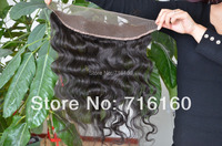 "Free shipping Virgin Brazilian Lace Frontal 13x4"" Bleached Knots Virgin Frontal Piece Body Wave Full Lace Frontal Brazilian Wavy"