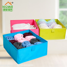 Colorful Foldable Storage Box For Clothes Washable Underwear Storage Box Polyester Fabric Drawer Organizer Storage Containers(China (Mainland))
