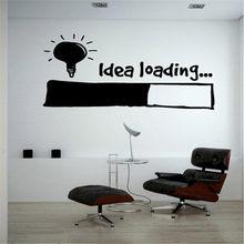 Idea Loading Wall Stickers Light Bulb Lamp Window Car DIY Sticker Decal Vinyl Silhouette Clip Art Vector Plotter Cut Decor(China)