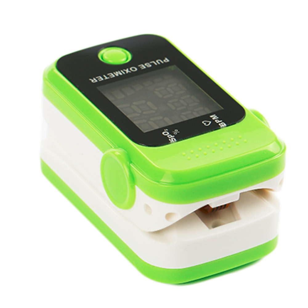 Portable Finger Tip Pulse Oximeter Blood Oxygen Saturation Monitor Professional Healthcare Tool Green top quality(China (Mainland))