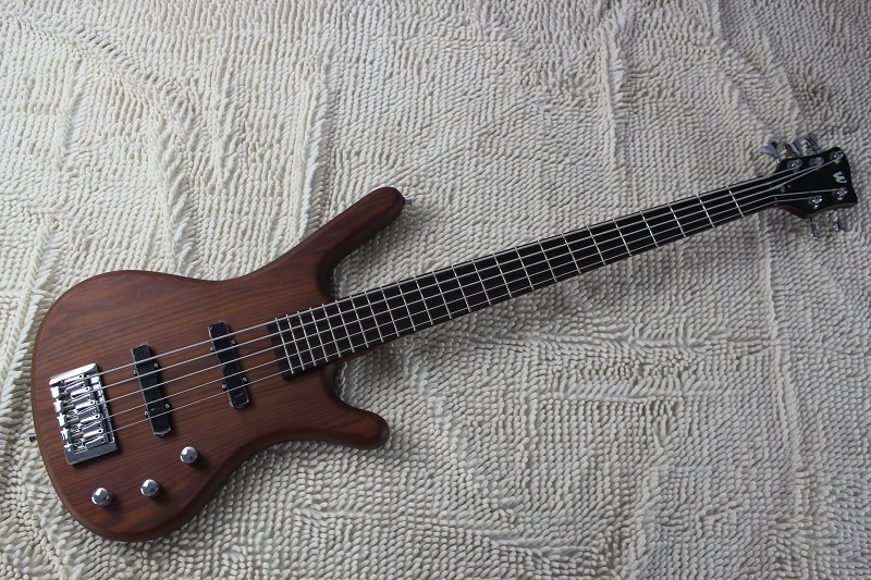 Factory wholesale Top quality W Corvette Standard 5 String Bass Guitar in brown -8-10(China (Mainland))