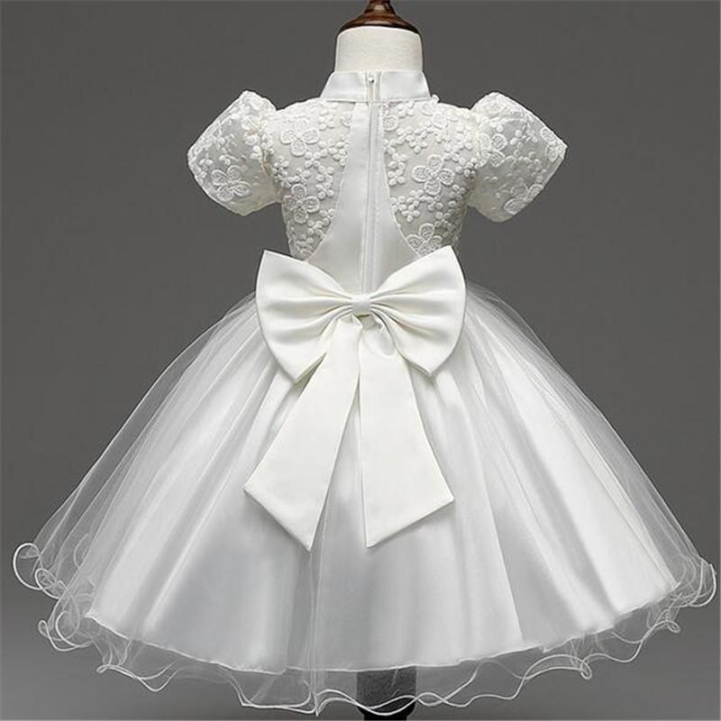 Скидки на Новый Корейский стиль девушки одеваются вышитые puff рукавом bowknot Цветочница Платье для свадьбы детский одежда