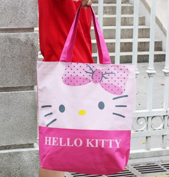 Sanrio Hello Kitty pink shoulder bag,shopping bag wholesale,free shipping 219-BA03(China (Mainland))