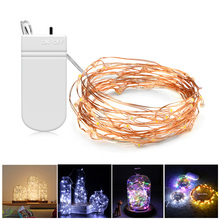 Buy 2M 5M led Battery Operated LED strip light string lights Copper Wire Lights Party Christmas Holiday Decoration lamparas lamp for $1.19 in AliExpress store