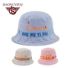2016 New Fashion Children Boy Girl Sun Hats Spring Summer Caps Cotton Bucket Hat Baby Kid Tractor Beanies Circular Cap CH264