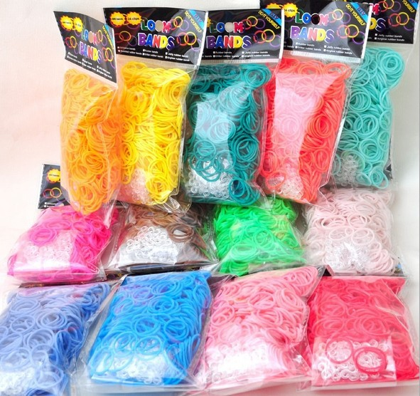 600pcs Package Rubber Band Loom Bands Girls DIY Bracelet Opp Bag(China (Mainland))
