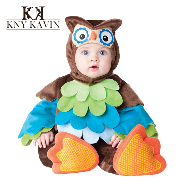 New Design children cosplay baby costome Triceratop owl monkey Cartoon Animal baby clothing newborn baby flannel clothes HK480(China (Mainland))