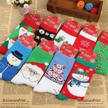 New 2015  men athletic shoes socks women's cotton christmas socks P1110