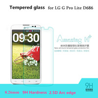 For LG D686 0.26mm Premium Tempered Glass for LG G Pro Lite D680 D686 Dual 9H 2.5D Screen Protector with Clean Tools
