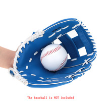 "Adjustable Blue 10.5"" PVC Artificial Leather Left Hand Baseball Glove Durable Outdoor Team Softball Sports Gloves Lightweight(China (Mainland))"