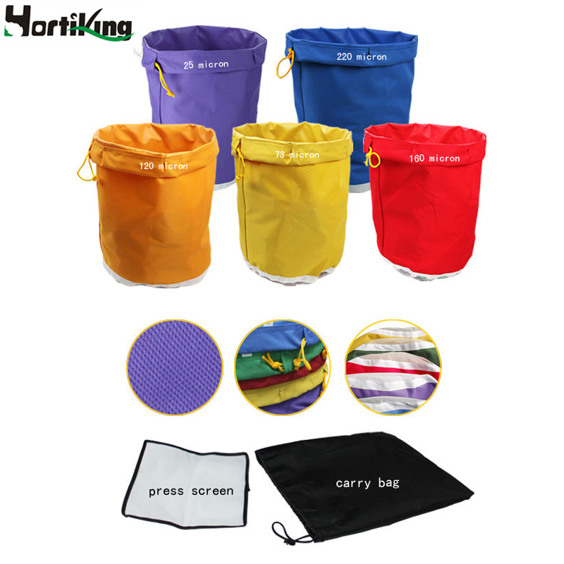 5 Gallon 5Bag Kit Free Press Screen Bubble Ice Bags 5 Gallon Hash Herb Oil Extraction Oxford Filter Bags Garden Grow Bag(China (Mainland))