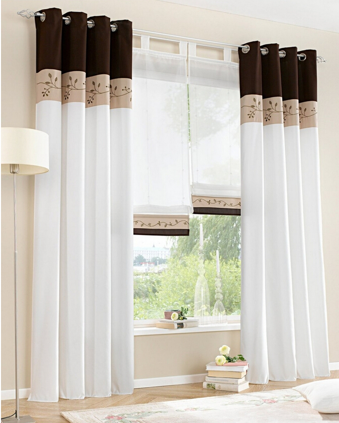 Hot Chinese Modern Curtains White Sheer Tulle Short Window Curtains ...