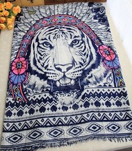 Autumn / winter new design fashion Indian tiger pattern cotton long scarf shawl scarves warm shawl  no.11