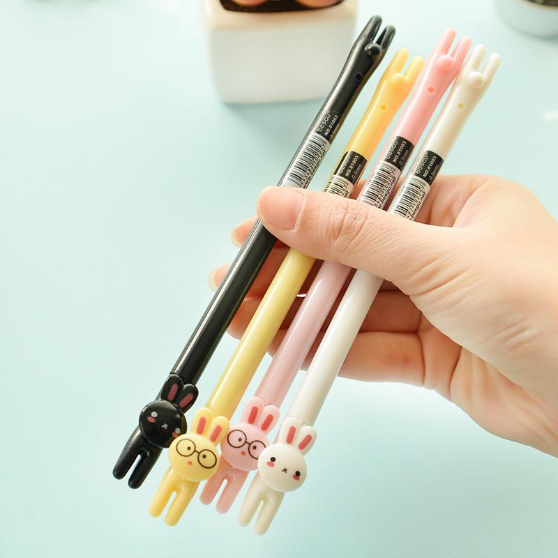 8 pcs/lot Cute Rabbit Gel Pens For Writing 0.5 MM Black Ink Pen set  Kids gift Kawaii Stationery Office School Supplies escolar<br><br>Aliexpress