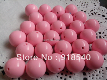 Pink  Large 20MM 105pcs Big Chunky Gumball Bubblegum Acrylic Solid Beads ,Colorful Chunky Beads for Necklace Jewelry
