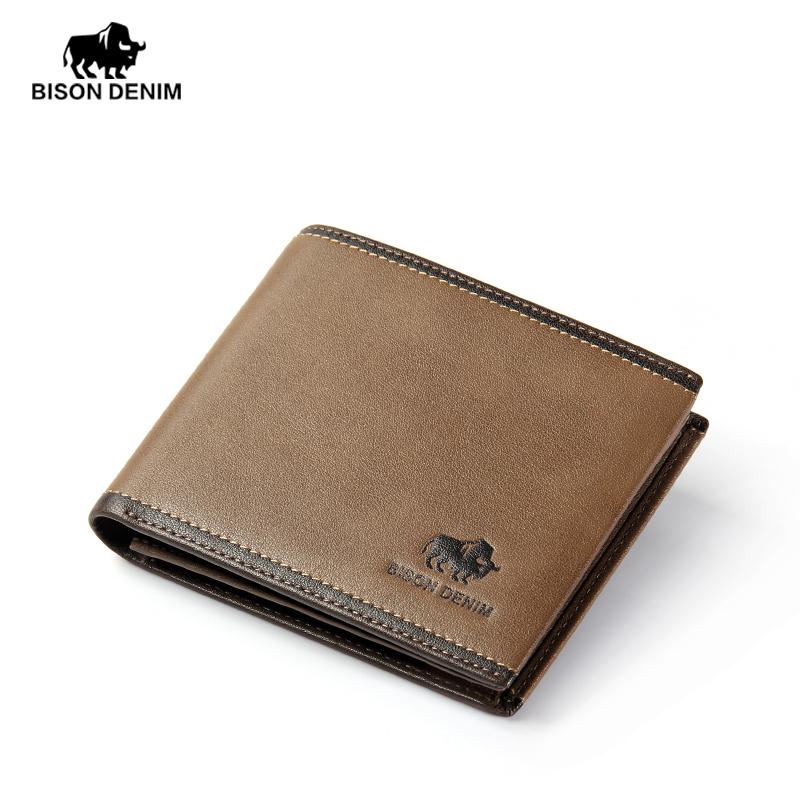 BISON DENIM 100% Genuine Leather America Cowboy Fashion Wallet For Men Karqi Charming Carteira Masculina Free Shipping(China (Mainland))