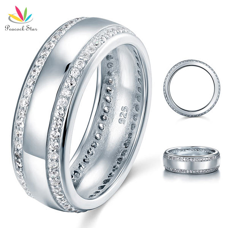 wholesale cut s wedding band solid 925 sterling