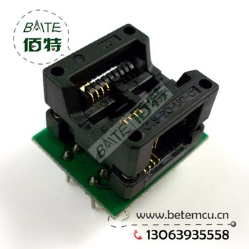 5PCS/lot SOP8 to DIP8 IC socket Programmer adapter Socket High Quality OTS-20-1.27-01 for 25xx eeprom flash