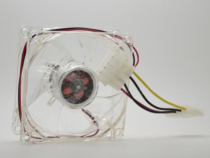 pc computer fan 80mm with 4ea led 8025 8cm silent DC 12V LED luminous chassis molex