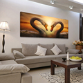 Decorative love heart wall decoration large modern canvas art animal oil painting hd printed wall paintings