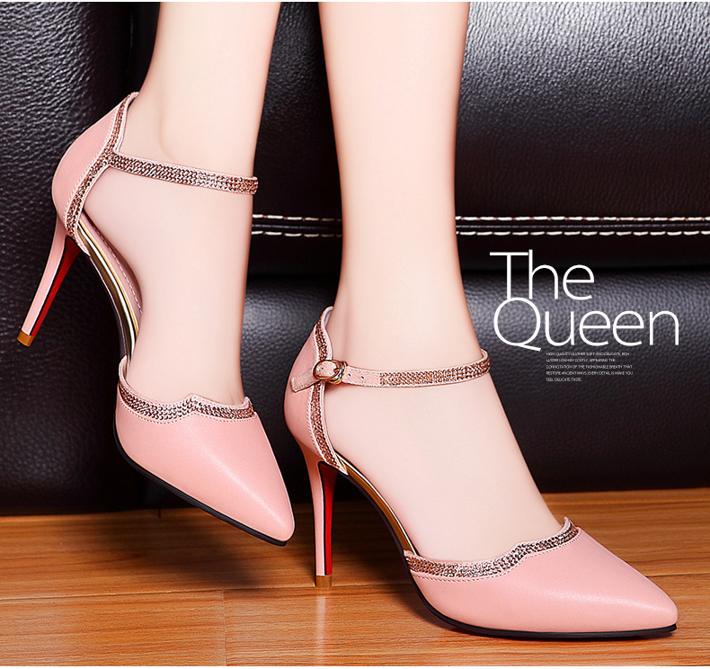 Women's Pumps Mary Janes High Heel Red Bottom Brand Shoes Lady Point Toe 2015 New Design Fashion Women Party