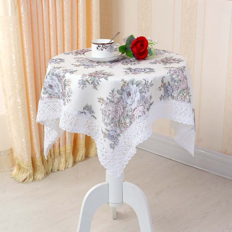 Square Table Cloth cotton elegant advanced printed table cloth washable(China (Mainland))
